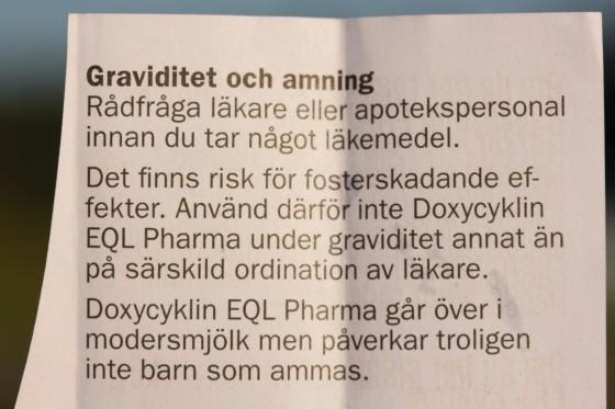 doxycyklin graviditet